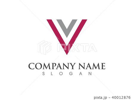 v letter logo business templateのイラスト素材 40012876 pixta