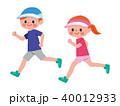 ジョギング 男女 走るのイラスト 40012933
