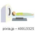 MRI 人間ドック 脳ドックのイラスト 40013325