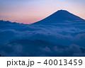 富士山 富士 雲海の写真 40013459