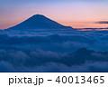 富士山 富士 雲海の写真 40013465
