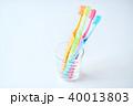 歯ブラシ 歯磨き コップの写真 40013803