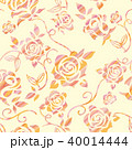 バラ シームレス 模様のイラスト 40014444
