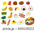 弁当 おかず 食べ物のイラスト 40019022