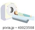 MRI 人間ドック 脳ドックのイラスト 40023508