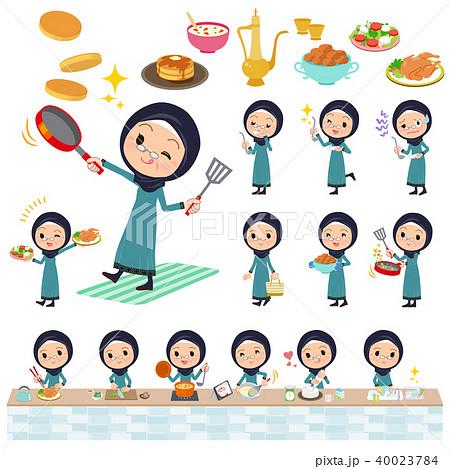 Arab old women_cooking 40023784