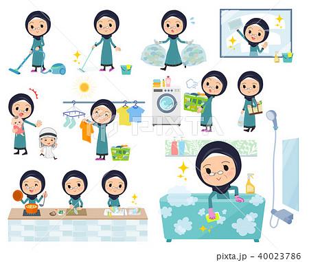 Arab old women_housekeeping 40023786