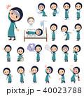 女性 ムスリム シニアのイラスト 40023788