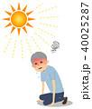 シニア 男性 熱中症のイラスト 40025287