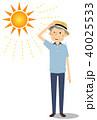 シニア 男性 真夏日のイラスト 40025533