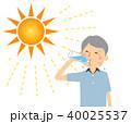 高齢者 男性 水分補給のイラスト 40025537