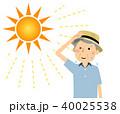 シニア 男性 真夏日のイラスト 40025538
