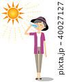 高齢者 女性 水分補給のイラスト 40027127