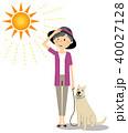 シニア 女性 真夏日のイラスト 40027128