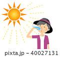 高齢者 女性 水分補給のイラスト 40027131