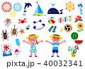 夏休み イラストセット 40032341