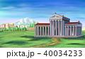 Ancient Greek Temple illustration 40034233