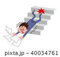 オフィスの階段で転倒する男性 40034761
