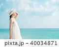 女性 人物 ビーチの写真 40034871