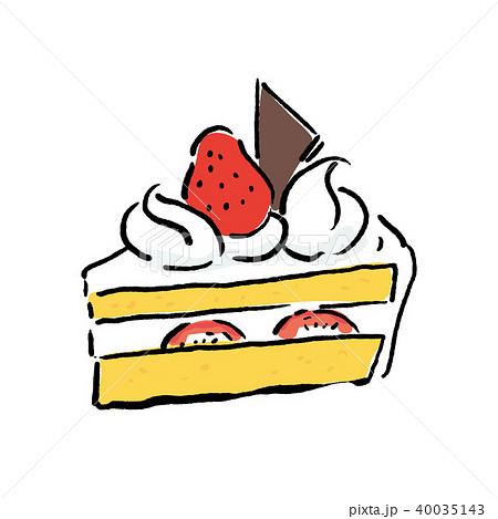 ショートケーキ イラスト 40035143