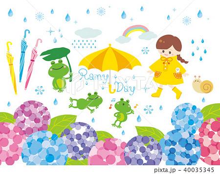 梅雨イラストのイラスト素材 40035345 Pixta