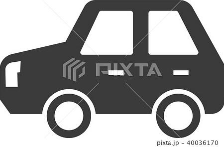 車 イラスト シルエット のイラスト素材 40036170 Pixta