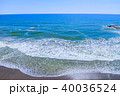 空撮 九十九里浜 長生村の写真 40036524