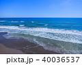 空撮 九十九里浜 長生村の写真 40036537