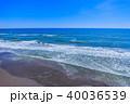 空撮 九十九里浜 海の写真 40036539