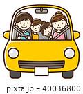 ドライブ 家族 車のイラスト 40036800