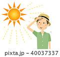 男性 真夏日 暑いのイラスト 40037337