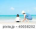 夏の子供 海 40038202