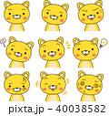 上半身 動物 表情のイラスト 40038582