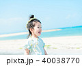 人物 子供 砂浜の写真 40038770