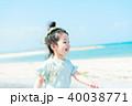 海と子供 40038771