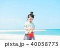人物 子供 砂浜の写真 40038773