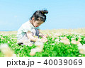 人物 子供 シロツメクサの写真 40039069