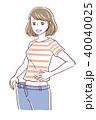 ダイエット 女性 痩せるのイラスト 40040025