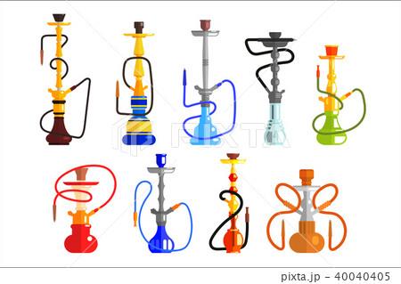 hookah set hookah with pipe for smoking tobacco and shisha vector