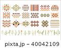 エスニック 草本 フラワーのイラスト 40042109