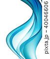 波 ウェーブ 流れのイラスト 40046606