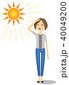 女性 真夏日 暑いのイラスト 40049200