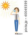 若い女性 水分補給 40049399