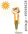 女性 真夏日 暑いのイラスト 40049428