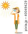 女性 若い 水分補給のイラスト 40049429