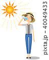 女性 若い 水分補給のイラスト 40049433