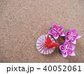 折り紙の花と蝶 40052061