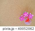 折り紙の花と蝶 40052062