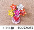 折り紙の花と蝶 40052063