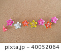 折り紙の花と蝶 40052064
